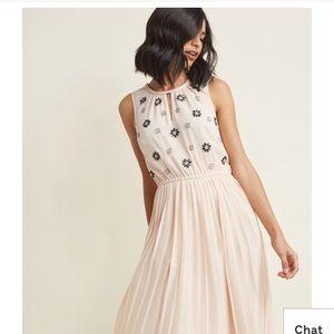 ModCloth Chiffon Midi Dress
